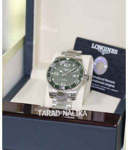 นาฬิกา Longines Hydro Conquest automatic ceramic L3.781.4.06.6 Green