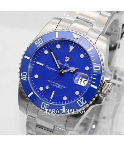 นาฬิกา Olym pianus Automatic submariner sapphire 899832AG-423 Gen II  ขอบเซรามิคสีฟ้า