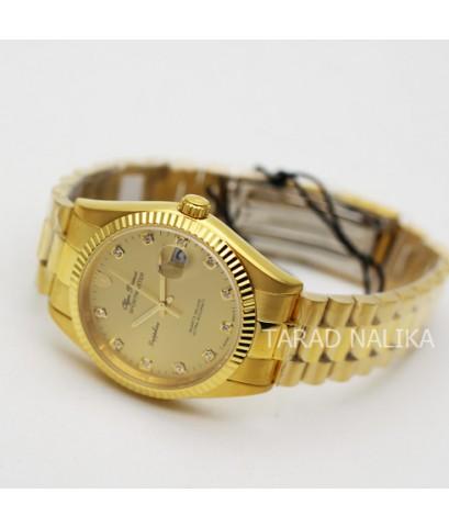นาฬิกา Olym pianus sportmaster sapphire 89322G-658 เรือนทอง King size