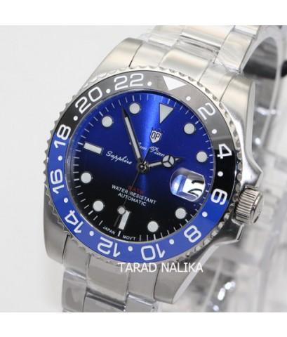 นาฬิกา Olym pianus Automatic submariner sapphire 899832AG-423 Gen II BATMAN  หน้าทูโทน