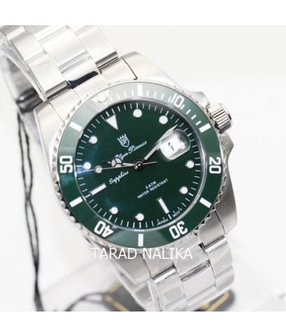 นาฬิกา Olym pianus sapphire submariner 899831G1-616 New Size 40 mm ขอบเซรามิคเขียว