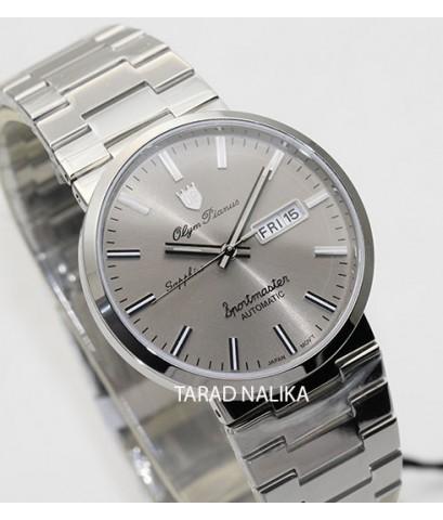 นาฬิกา Olym pianus sportmaster automatic sapphire 8909AM-434 หลักขีด หน้าเทา