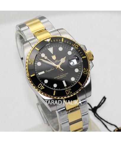 นาฬิกา Olym pianus Automatic submariner sapphire 899832AG-423 สองกษัตริย์ เซรามิคดำ