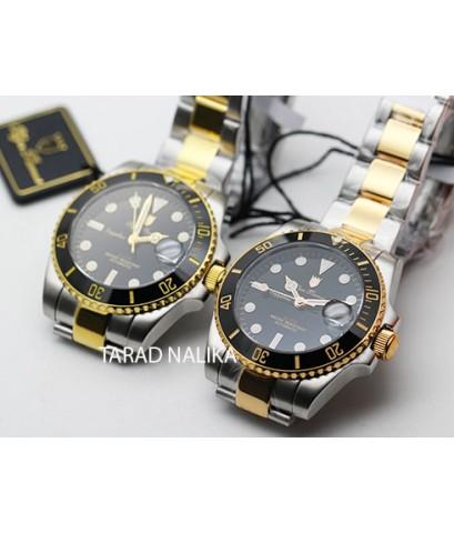 นาฬิกา Olym pianus Automatic submariner sapphire 899832AG-423 สองกษัตริย์ pinkgold เซรามิคดำ