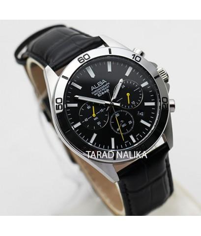 นาฬิกา ALBA Sport Chronograph Gent AT3H33X1  สายหนัง