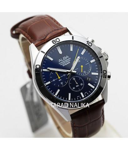 นาฬิกา ALBA Sport Chronograph Gent AT3H31X1 สายหนัง