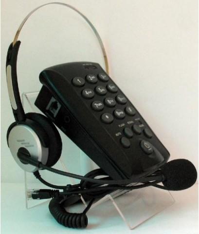 โทรศัพท์พร้อมชุดหูฟัง Call Center Headset รุ่น T-800