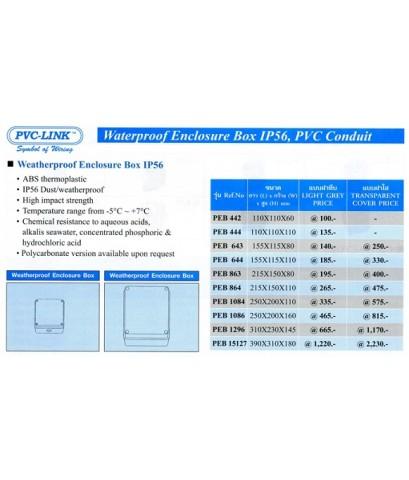 บ๊อก พี.วี.ซี. กันน้ำ (WEATHERPROOF ENCLOSER BOX IP65)