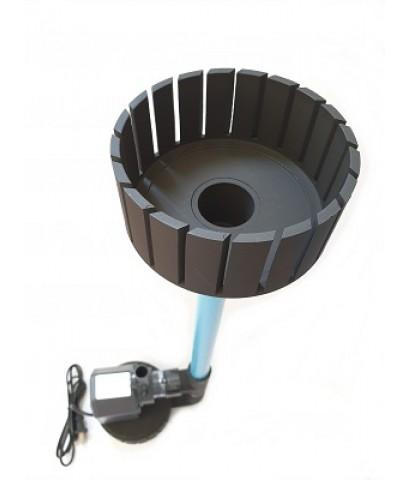 ชุดพร้อมใช้ สกิมเมอร์ สะดือบ่อเทียม ขนาด 5 นิ้ว ท่อ 6 หุน และปั๊มน้ำ Sonic AP-2500 อุปกรณ์ครบชุด