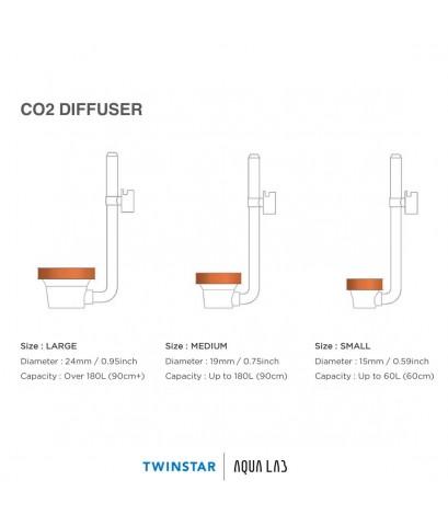 TWINSTAR DIFFUSER CO2 Diffuser Size M ตัวกระจายคาร์บอน รุ่นใหม่ล่าสุด ปี 2020