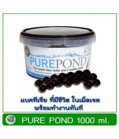 Pure Pond 1000 ml. แบคทีเรีย ที่มีชีวิตในเม็ดเจล ช่วยบำบัดน้ำ ระบบกรองน้ำบ่อปลา Nitrifying Bacteria
