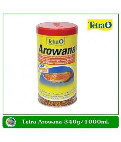 Tetra Arowana อาหารสำหรับปลาอโลวานา 340 กรัม/1000 ml.