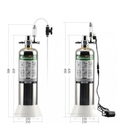 PRO D601 ชุดถังคาร์บอน แบบผสมเอง Co2 สำหรับตู้ไม้น้ำ ขนาดถัง 2 ลิตร ไม่มีโซลินอยด์