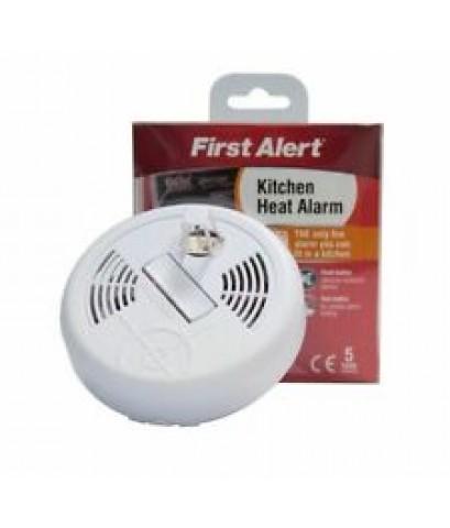 ตัวตรวจจับความร้อนแบบใส่ถ่าน 9 โวลต์พร้อมเสียงไซเรนในตัว รุ่น HA300 ยี่ห้อ First Alert มาตรฐาน EN