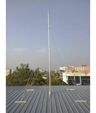 เสาเหล็กชุปกัลวาไนซ์พร้อมสลิง 4 เส้น สูง 9 m.สำหรับติดตั้งหัวล่อฟ้า