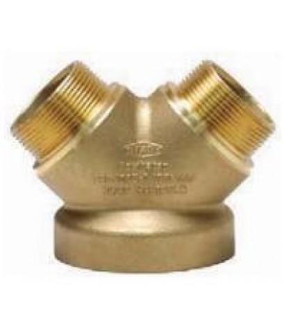 หัวจ่ายน้ำดับเพลิง Y-Type ทองเหลือง 6x2.5x2.5 นิ้ว มาตรฐาน UL รุ่น 26-294 ยี่ห้อ DIXON-POWHATAN