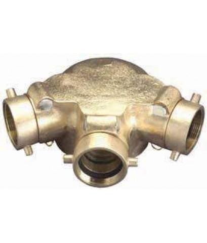 หัวรับน้ำดับเพลิงทองเหลือง 90\'-Type ขนาด 6x2.5x2.5x2.5 นิ้ว รุ่น 21-206 ยี่ห้อ DIXON-POWHATAN