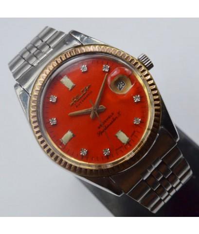 1970s นาฬิกาสวิส FELCA SPORTMASTER X ออโต้ไขลานหน้าปัดส้มเดินดีน่าใช้
