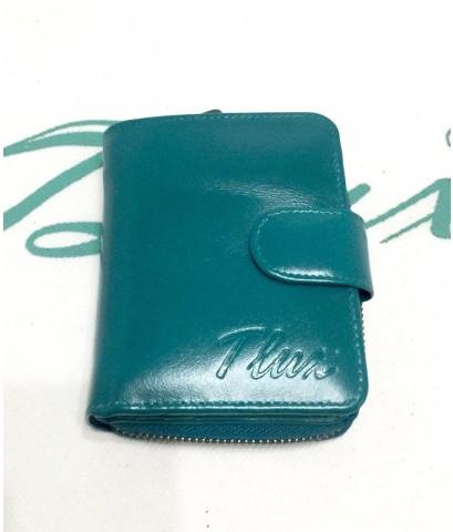 กระเป๋าสตางค์หนังแท้ tlux Item 47 สีฟ้า