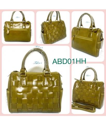 กระเป๋าหนังแท้ tlux  Item ABD01HH  สีเขียวมะกอก