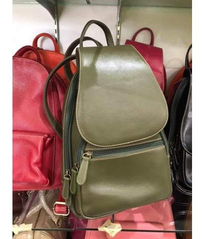 กระเป๋าเป้หนังวัวแท้ Tlux item CE004  สีแดง