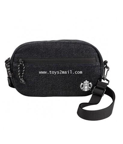STARBUCKS : [星巴克]女神斜紋帆布側背包 STARBUCKS 2019 BLACK SIREN BAG กระเป๋าเฉียงสะพายข้างไซเร็นสีดำ เทห์ๆ [2]