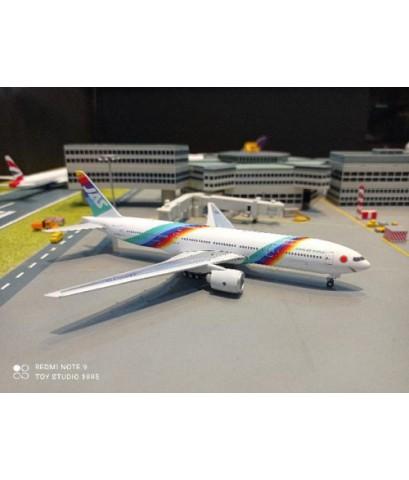 P4378 1:400 JAS Japan Air 777-200 JA007D [Width 15 Length 15.5 Height 4.5 cms.]