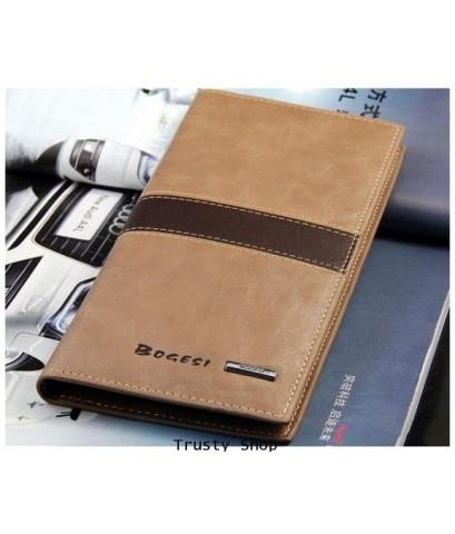 กระเป๋าใส่เช็ค กระเป๋าเงินกระเป๋าหนัง กระเป๋าใบยาว กระเป๋าผู้ชาย BOGESI Code 0470