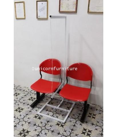 ฉากกั้นแผ่นอะคริลิค ฉากรูปธง ฉากกั้นเก้าอี้ระหว่างที่นั่ง ร้านตัดผม ร้านเสริมสวย