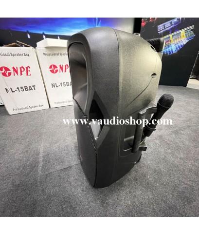 ตู้แอมป์ 15 นิ้ว NPE รุ่น NL-15BAT Bluetooth (ไมค์ลอย2ตัว/แบตแห้ง/USB/SD CARD)