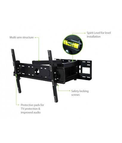 Full Motion Multi-Arm TV Wall Mount_LNRFM600XLB