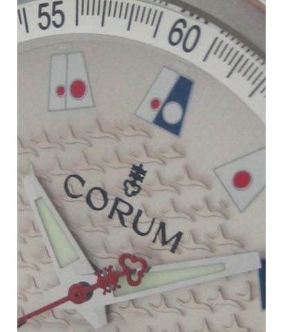 corum admiral\'s cup trophy auto date ขนาด king size 41mm หน้าปัดบรอนซ์เงินลายพิมพ์ธงสัญลักษณ์รอบ เด
