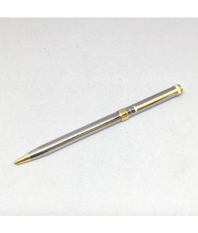 ปากกา TIFFANY 1990 Ball ponit pen ตัวด้าม steel ชุดเหน็บเคลือบทอง สภาพเดิมสวย