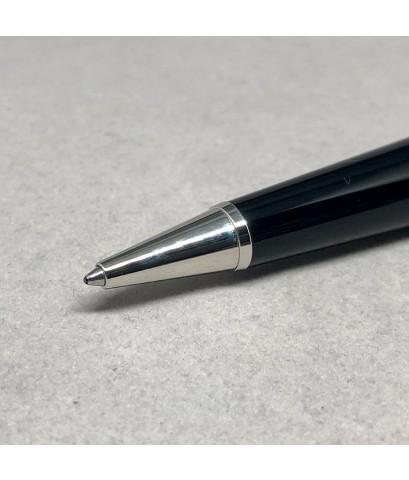 ปากกาเคมี MONTBLANC PEN spacial GRETA GARBO ระบบบิดเปิดไส้ ตัวเรือนดำอครีลิคสลับสีครีมงาช้าง ชุดเหน็