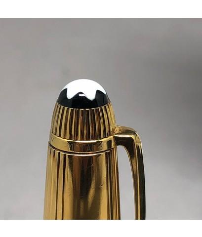 ปากกาหมึกเคมี MONTBLANC meisterstuck ตัวด้ามลายเส้น วัสดุเงินแท้ silver sterling 925 เคลือบทองหนา ชุ