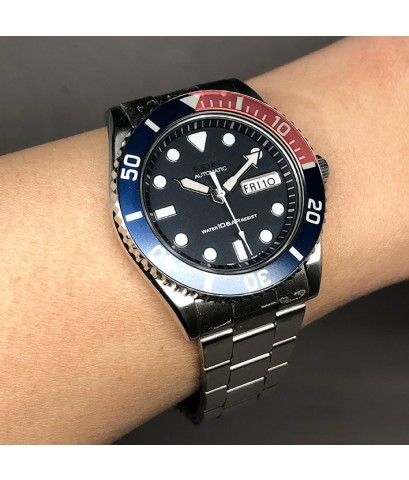SEIKO Vintage 1996 diver watch รหัส 7s26-0040 ใส่ได้ทั้งชาย และหญิง size 40 mm หน้าปัดดำ ประดับหลักเ