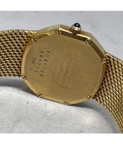 CONCORD  Nine / Quartz 18k gold Lady size 25mm หน้าปัดดำ onyx ประดับหลักเวลาจุดทอง กระจกแซฟไฟล์เรียบ