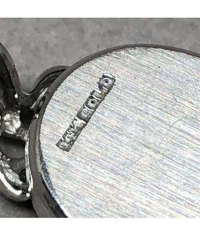 NICOLET Diamond Classic ไขลาน 1930 สำหรับสตรี หน้าปัดบรอนซ์เงินประดับหลักเวลาหลักขีด เดินเวลา 2 เข็ม
