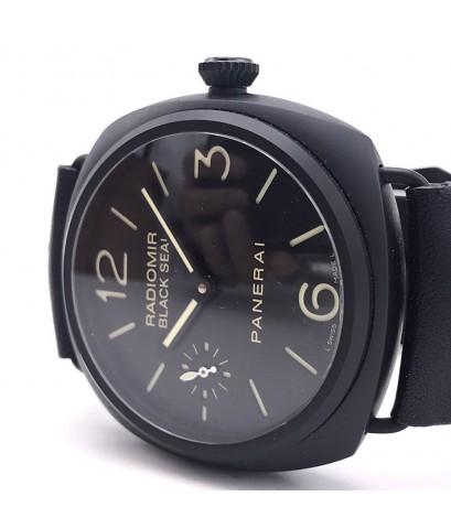 PANERAI Pam 292 Radiomir Black Seal Ceramic ระบบไขลาน ขนาดตัวเรือน 45 mm หน้าปัดดำ(พรายน้ำแซนวิช) เด