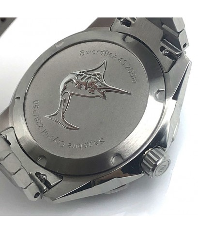 ZELOS Swordfish SS Black sand limited edition 228/250 automatic ขนาด 40 mm.