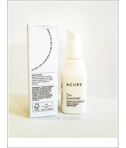 (Pre Order)Acure Moroccan Argan Oil 30 ml. น้ำมันอาร์แกน บำรุงผิวหน้า ผิวกาย เพิ่มความชุ่มชื้น ลดริ้