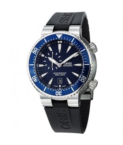 Oris นาฬิกาข้อมือผู้ชาย สายเรซิ่น รุ่น 74376098555RS