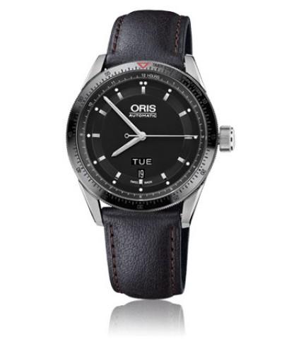 Oris Artix GT Day นาฬิกาข้อมือผู้ชาย สีดำ สายหนัง รุ่น 73576624434FC