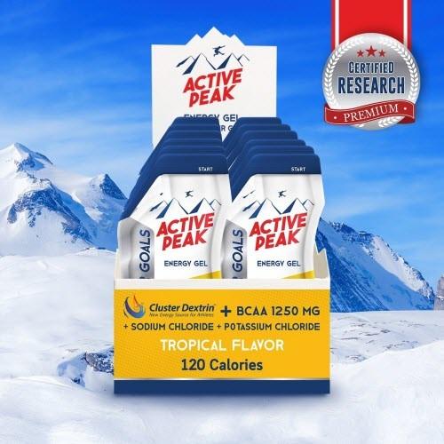 Active Peak Energy gel รสทรอปิคอล ( แพ็ก )