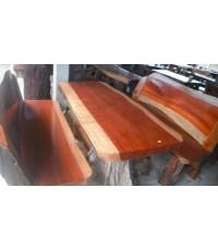 โต๊ะชุดพนักพิง ไม้รัก