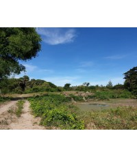 ขาย ที่ดินเปล่า ติดคลอง ใกล้ฝายกั้นน้ำ มีเสียงน้ำไหล เหมาะกับการสร้างบ้านสวน พักอาศัย อ.ปราณบุรี