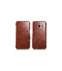 เคสหนัง Samsung Galaxy S7 iCarer รุ่น Vintage 980002, ทำจาก หนังวัว (Vintage Leather)