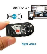 กล้องจิ๋ว Q7 ไร้สาย Night Vision รุ่น P2P ดูและบันทึกภาพ/วีดิโอ/เสียงได้ผ่าน iPhone/iPad/Samsung