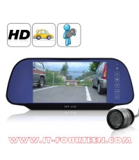 กระจกมองหลัง จอ LCD 7 นิ้ว High Definition Rearview Monitor พร้อมกล้องมองหลัง IR Rearview Camera
