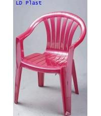 เก้าอี้ท้าวแขน AC-9301 สีแดงมุก